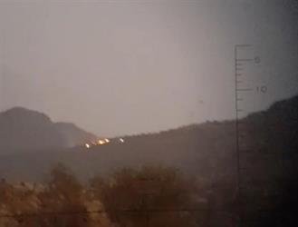 """بعد 24 ساعة من اشتعاله.. الأمطار تُخمد حريق """"جبل الليث"""""""