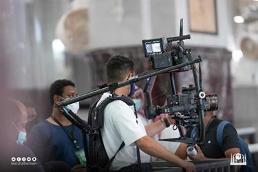 شؤون الحرمين تعمل على إنتاج فيلم مرئي لموسم الحج (صور)