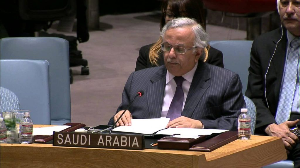 """""""المعلمي"""" يطلع أعضاء مجلس الأمن على انتهاكات وتهديدات مليشيا الحوثي تجاه المملكة"""